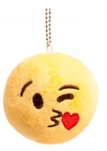 Брелок-смайлик Emoji ЦЕЛУЮ 10 см