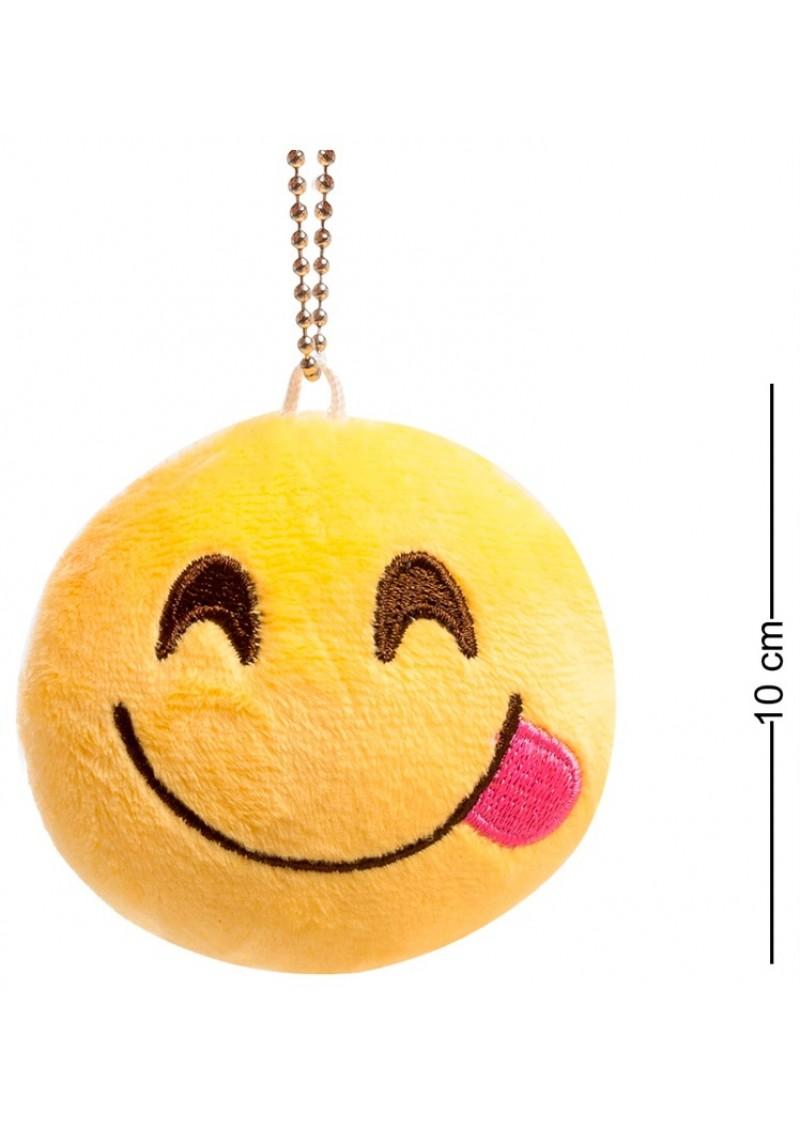 Брелок-смайлик Emoji ДОВОЛЬНАЯ УЛЫБКА 10 см