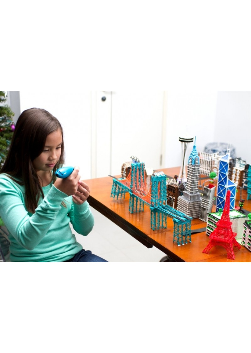 3D ручка Spider Pen SLIM с OLED дисплеем 3-го поколения СИНЯЯ
