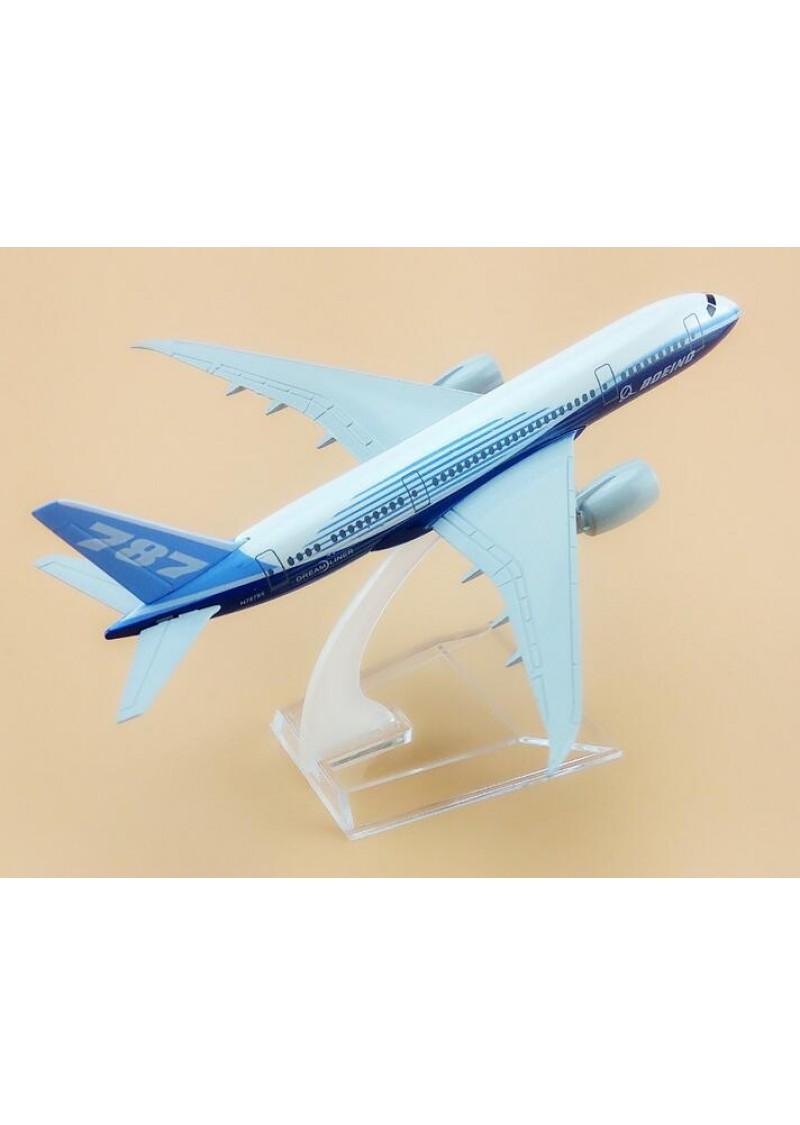 Модель самолета Boeing 787, Металл, 16 см