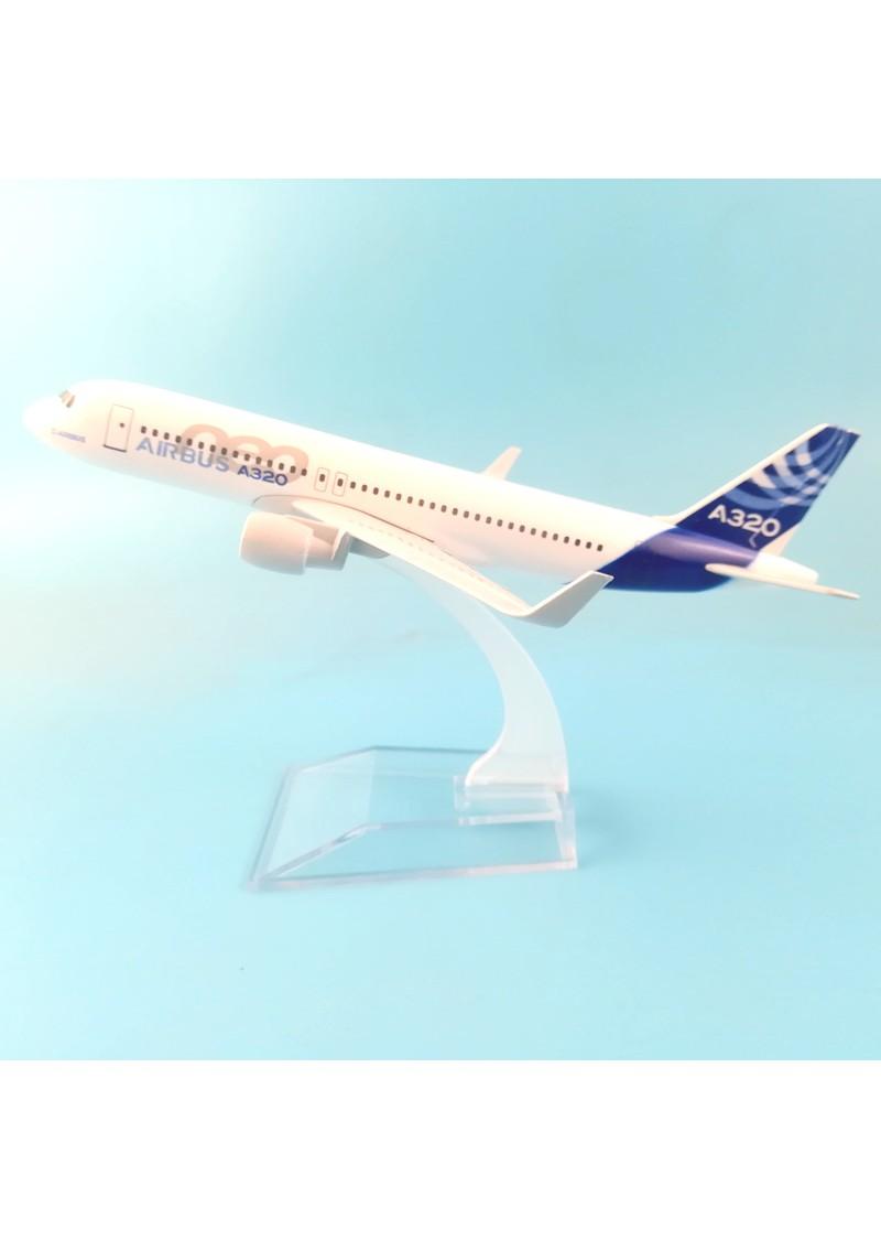 Модель самолета Airbus A380, Металл, 16 см
