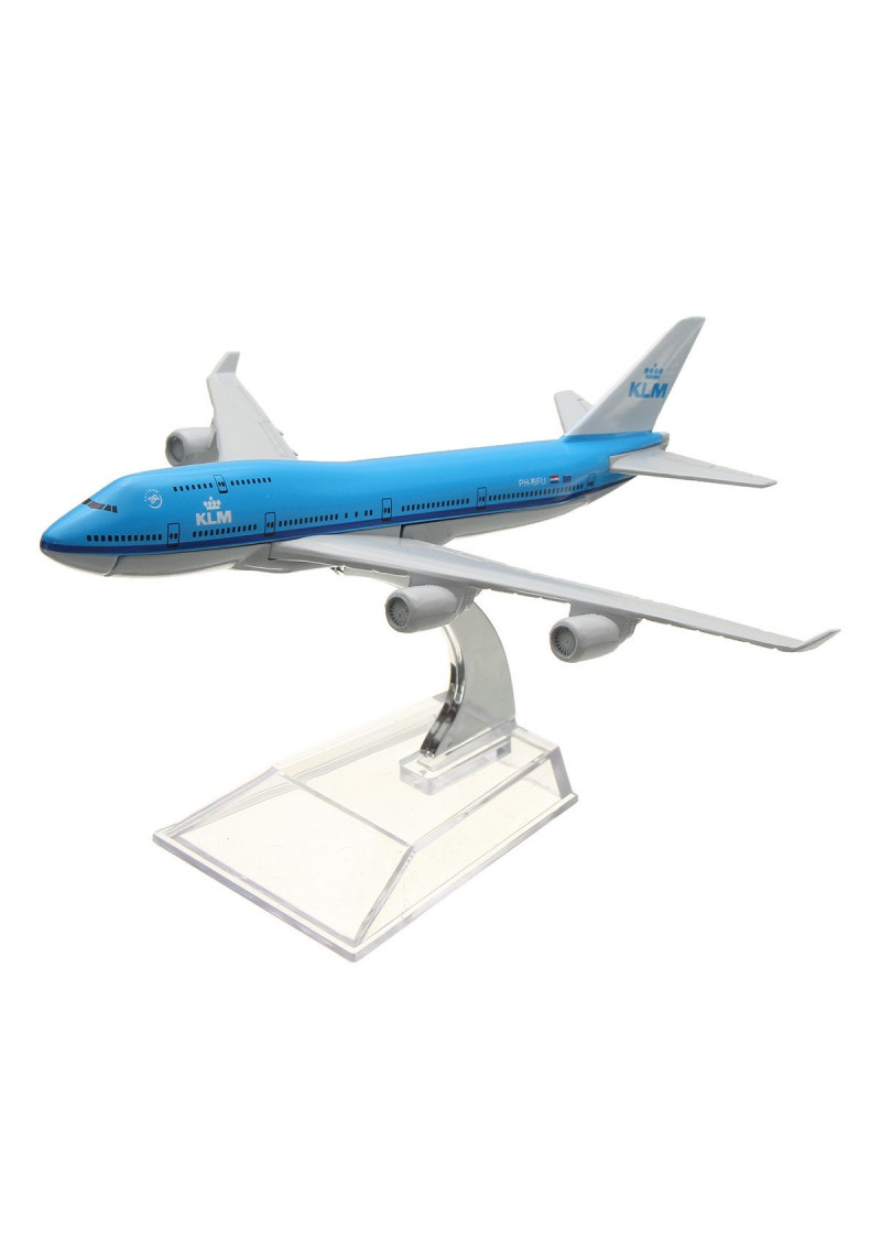 Модель самолета Boeing 747 KLM, Металл, 16 см
