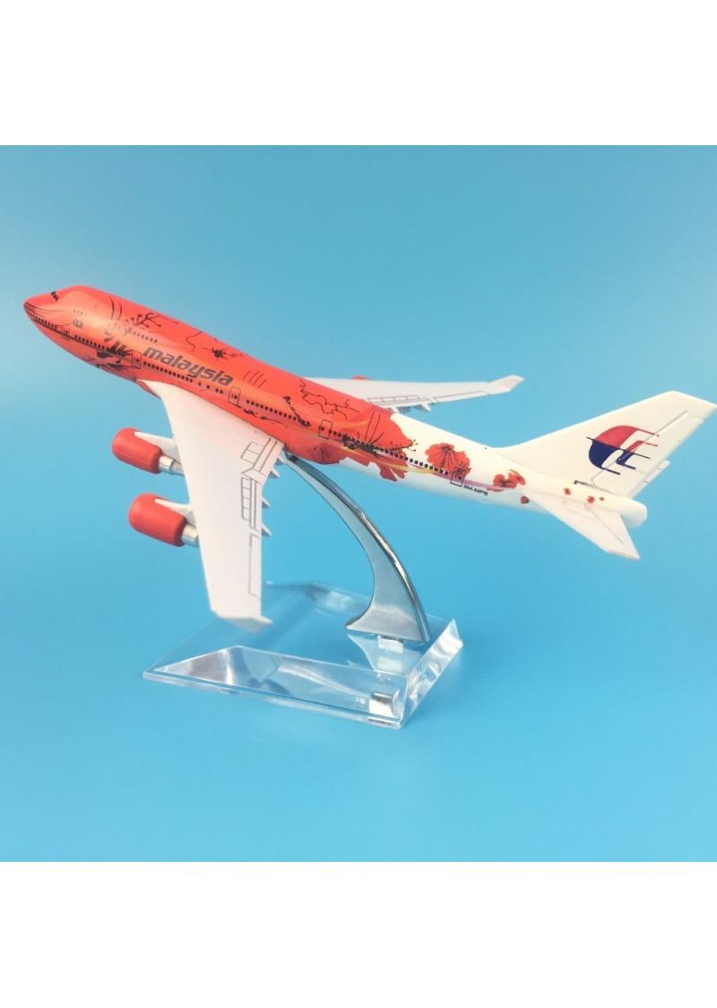 Модель самолета Boeing 787 Malaysia, Металл, 16 см