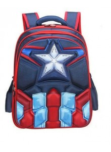 Рюкзак Капитан Америка школьный 3D 46 см