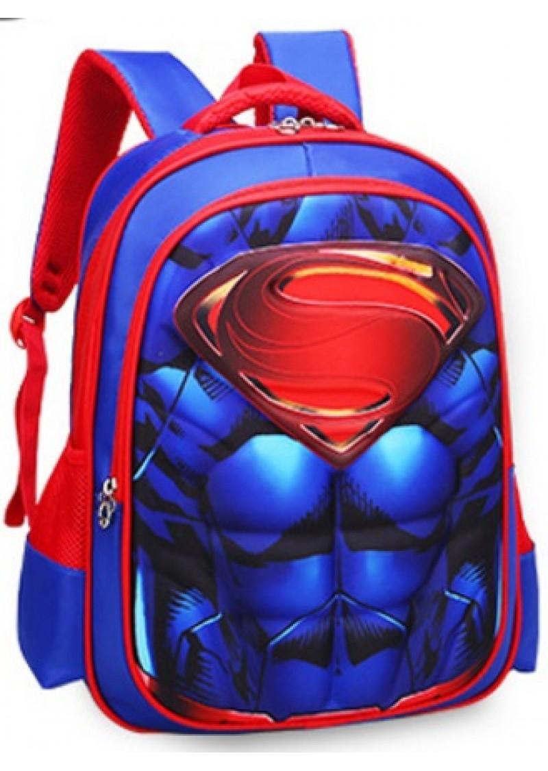 Рюкзак Супермен школьный 3D 46 см