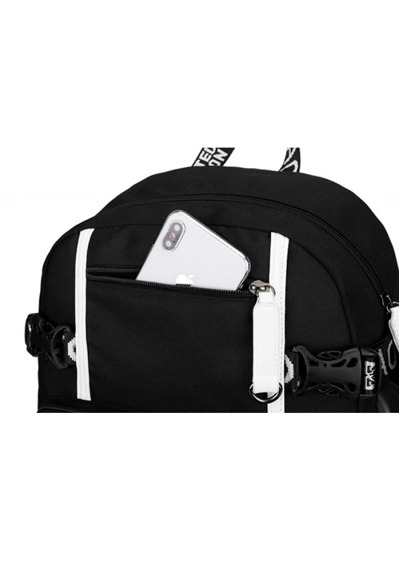 Рюкзак Пять ночей с Фредди FNAF светящийся, с USB и Jack 3.5