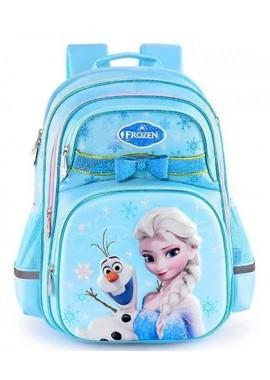 Рюкзак школьный Холодное сердце Эльза (голубой)
