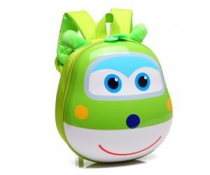 Рюкзак детский Супер Крылья 28 см зеленый