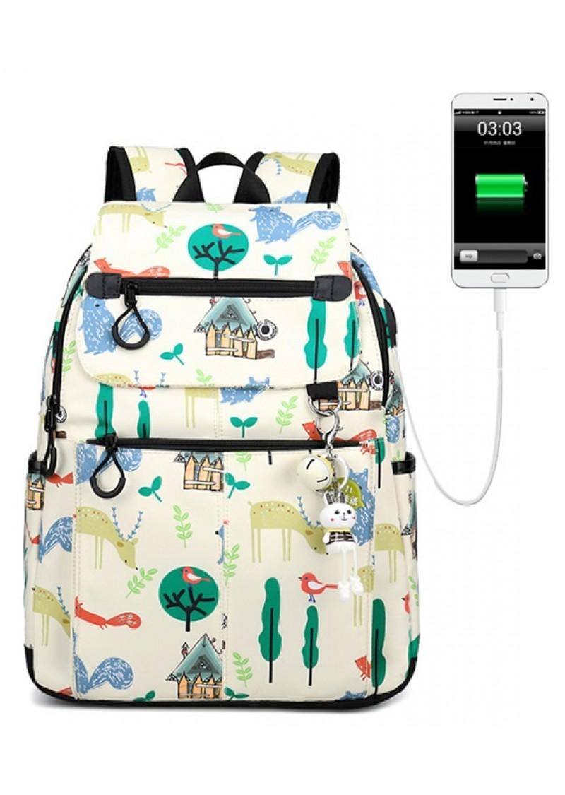 Городской рюкзак женский Winner Nature 40 см Бежевый с USB