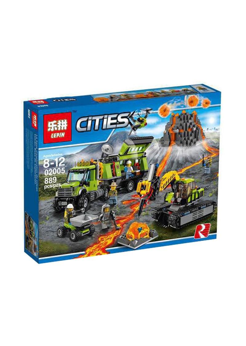 "Конструктор Сити ""База исследователей вулканов"" Lepin 02005 аналог Лего 60124"