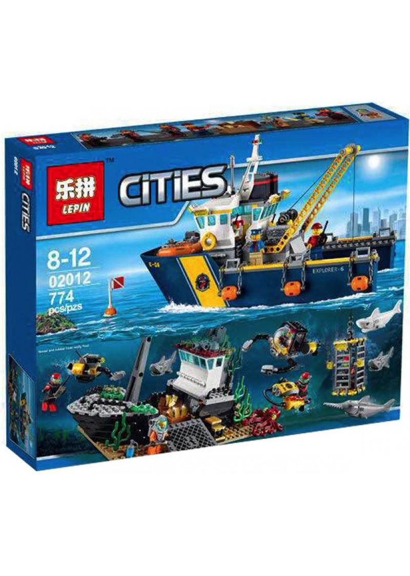 """Конструктор Сити """"Глубоководное исследовательское судно"""" Lepin 02012 аналог Лего 60095"""