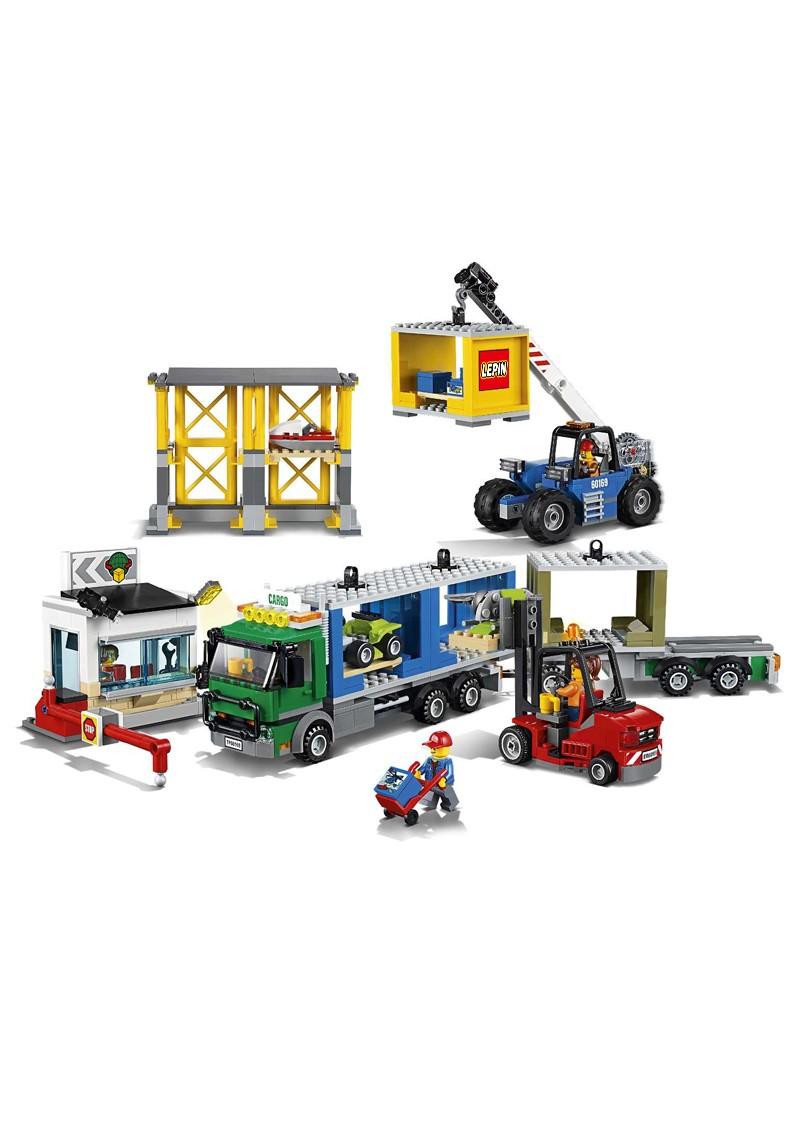 """Конструктор Сити """"Грузовой терминал"""" Lepin 02082 аналог Лего 60169"""