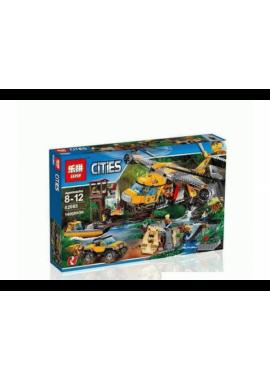 """Конструктор Сити """"Вертолёт для доставки грузов в джунгли"""" Lepin 02085 аналог Лего 60162"""
