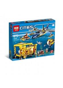 """Конструктор Сити """"Глубоководная исследовательская база"""" Lepin 02088 аналог Лего 60096"""