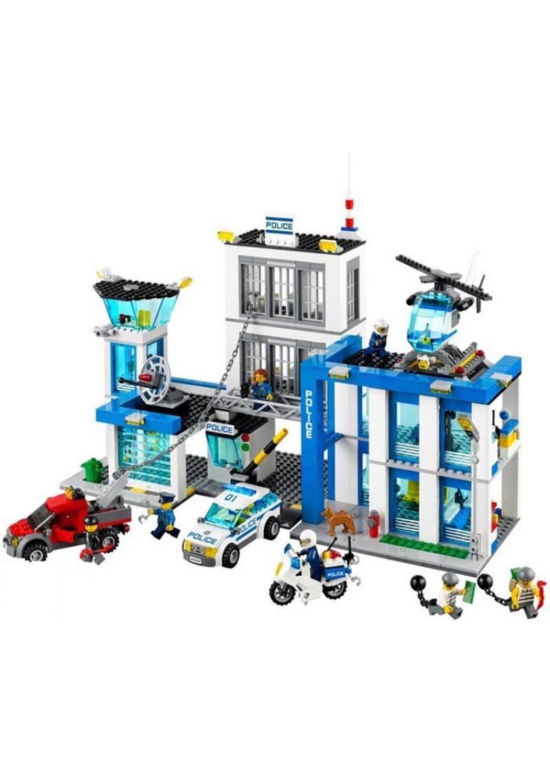 """Конструктор Сити """"Полицейский участок"""" Bela 10424 аналог Лего 60047"""