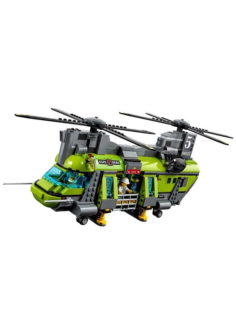 """Конструктор Сити """"Тяжёлый транспортный вертолет исследователей вулканов"""" Bela 10642 аналог Лего 60125"""