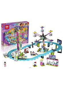 "Конструктор Friends ""Парк развлечений: Американские горки"" Lepin 01008 аналог Лего 41130"