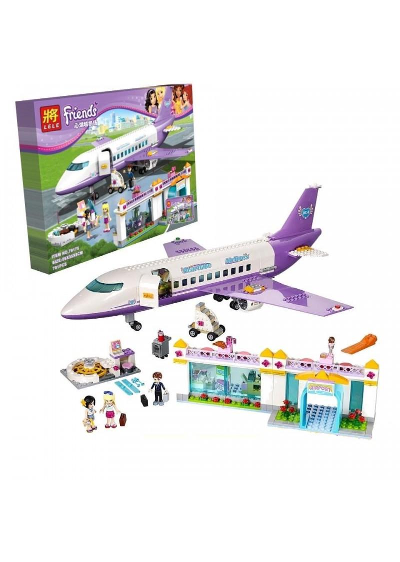 """Конструктор Friends """"Аэропорт ХартЛэйк Сити"""" Lele 79175 аналог Лего 41109"""