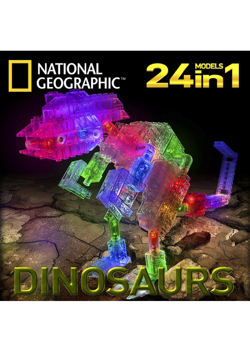 Динозавры конструктор 24 в 1 Серия National Geographic NG300