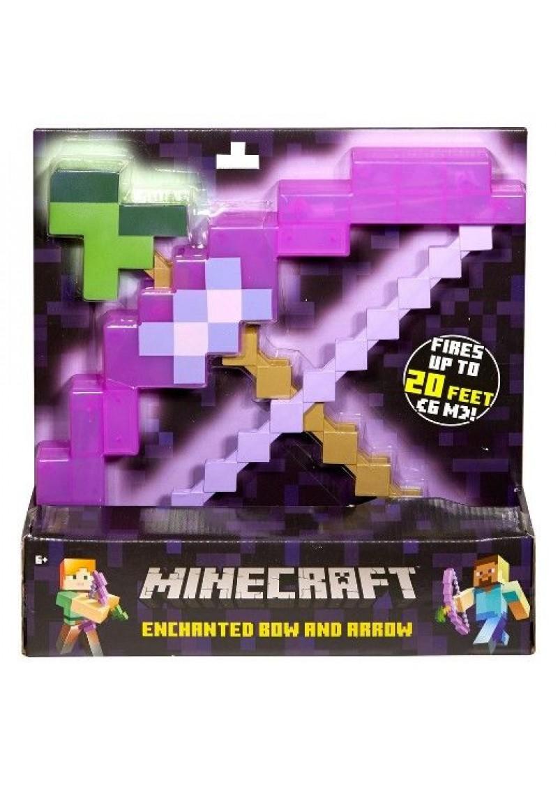 Пиксельный лук зачарованный со стрелой из Майнкрафт