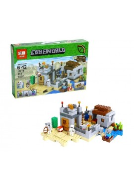 """Конструктор """"Пустынная станция"""" Майнкрафт Lepin 18019 аналог Lego 21121"""