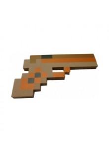 Золотой пиксельный пистолет