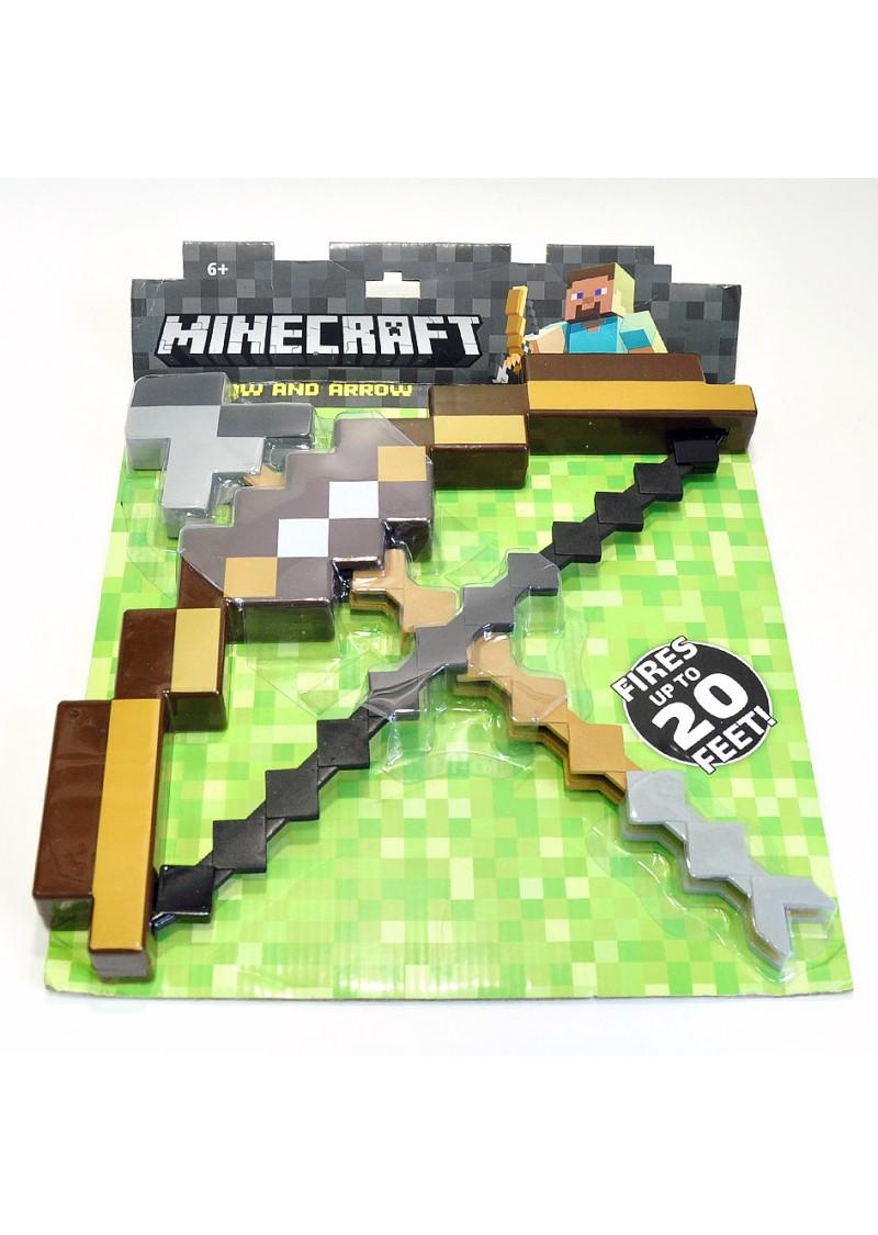 Пиксельный лук со стрелой из Майнкрафт