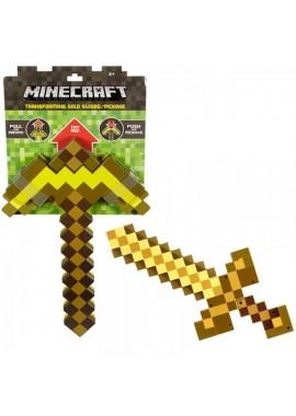 Золотая кирка-меч трансформер 2 в 1 Манкрафт
