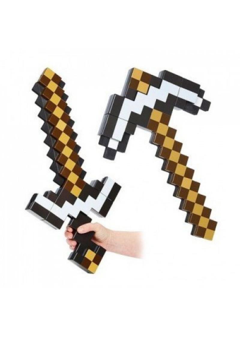 Железная кирка-меч трансформер 2 в 1 Манкрафт