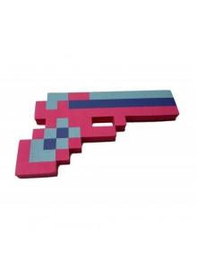 Розовый пиксельный пистолет