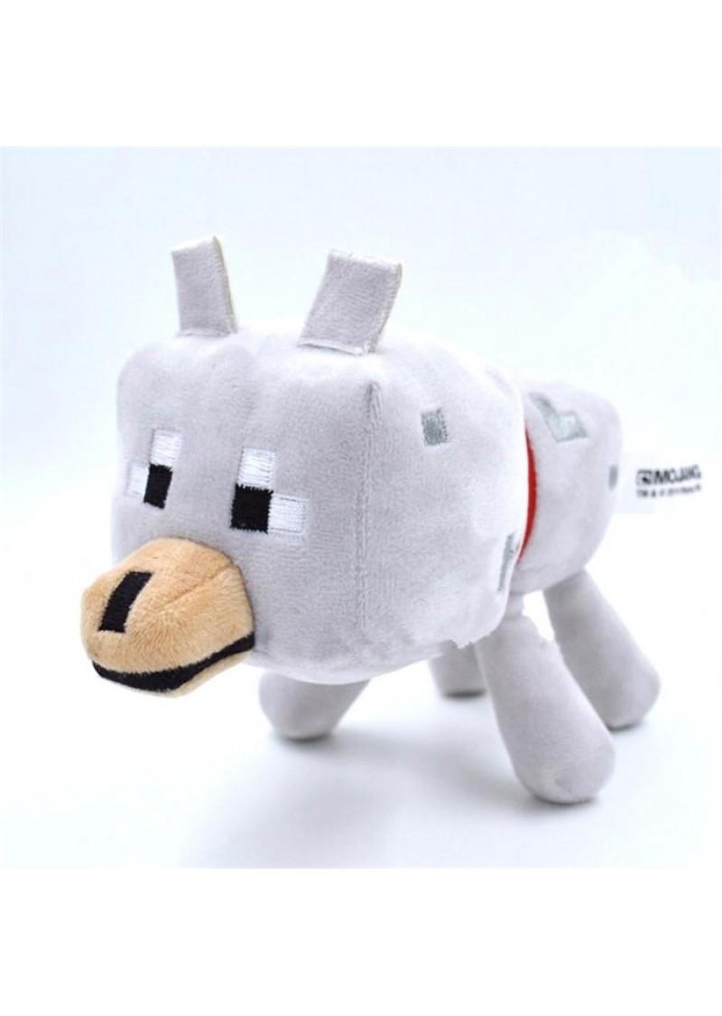 Волк 17 см мягкая игрушка из Майнкрафт