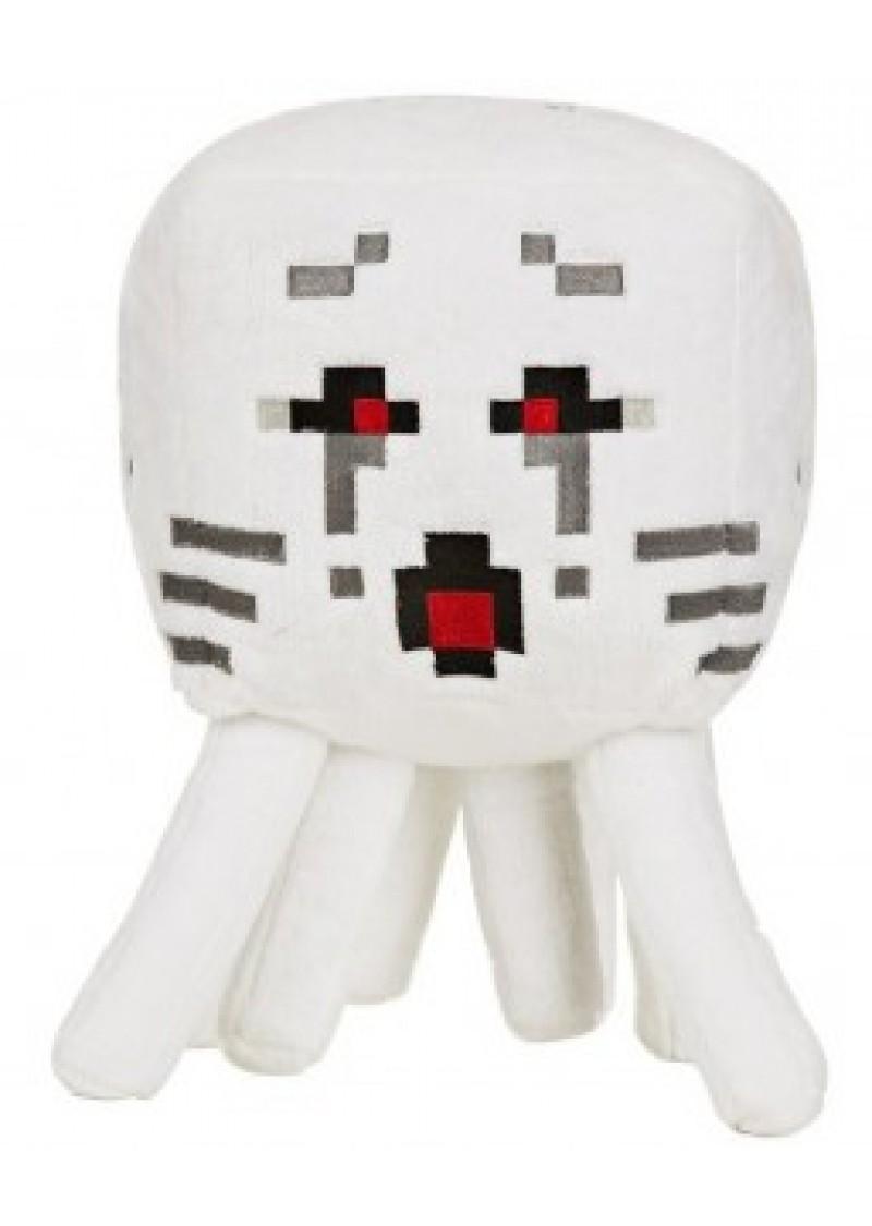 Приведение Гаст с красными глазами 15 см мягкая игрушка из Майнкрафт (Minecraft Ghast)