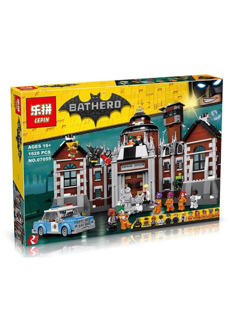 "Конструктор Бэтмен ""Лечебница Аркхэм"" Lepin 07055 аналог Лего 70912"