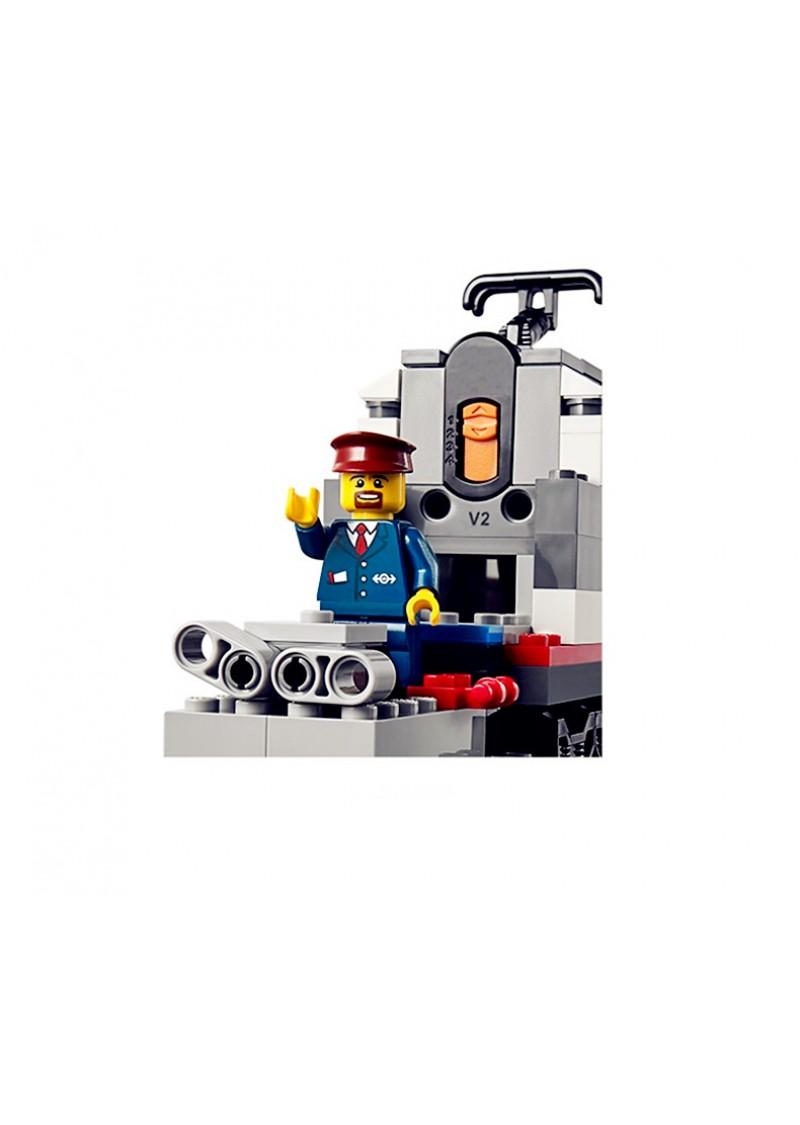 """Конструктор """"Скоростной пассажирский поезд"""" Lepin 02010 аналог Лего 60051"""